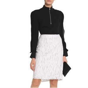 3.1 Phillip Lim Broken Line Embroidered Skirt